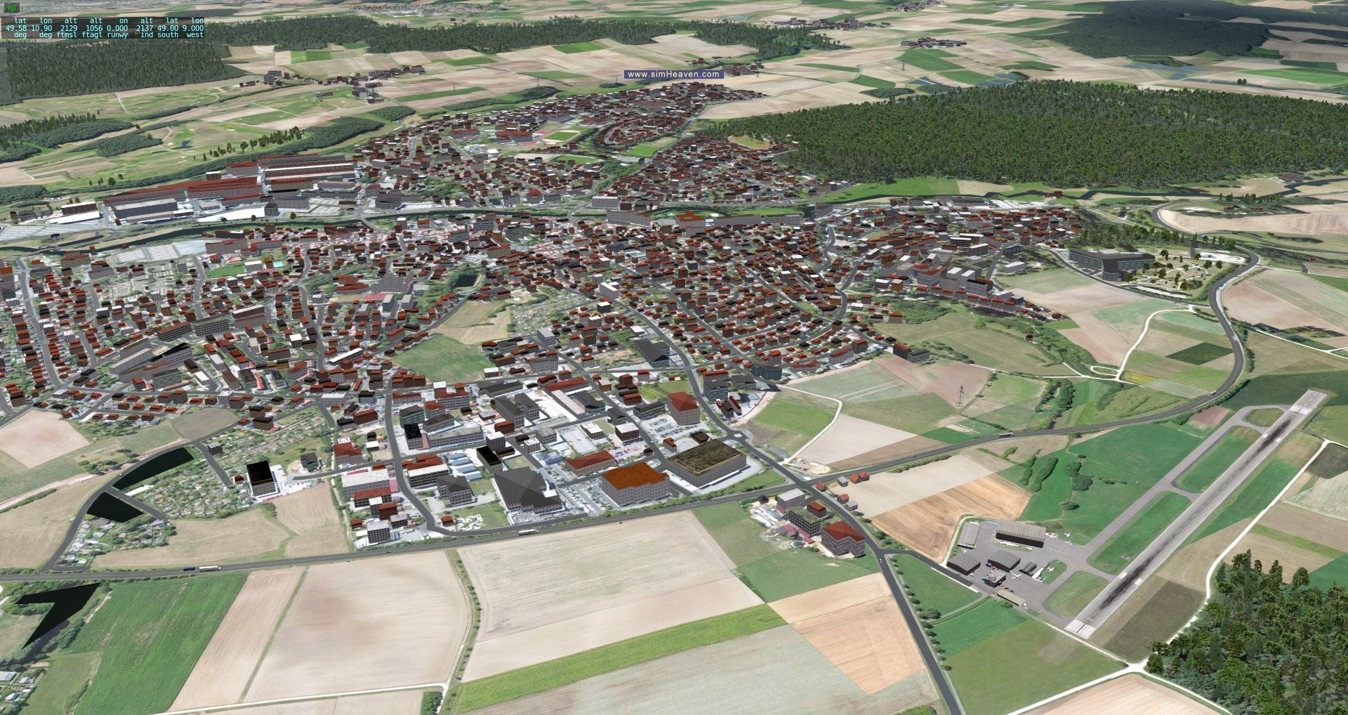 well, not the biggest city in Germany, but my home airport, near Nuremberg ;)